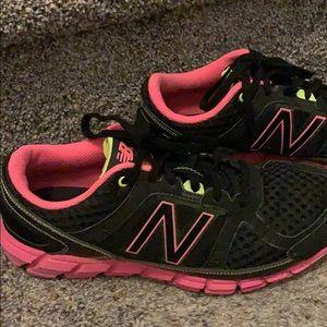 New Balance Shoes - New Balance 750 v1 black & pink running shoes 8